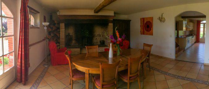 les bourdoncles serena grand salon lumineux cheminée monumentale espace travail