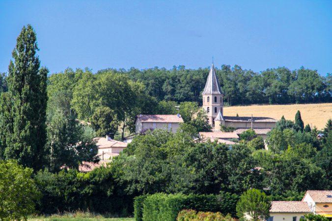 église st anatole vue nord du gite