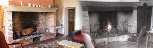 montage des cheminées des gites serena et familha