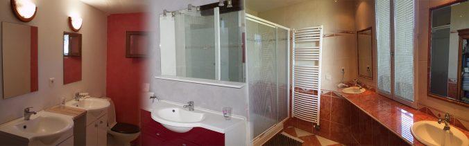aperçu des salles de bains